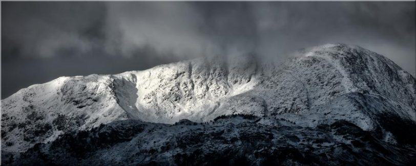 Snow Covered Wetherlam - Lake District Canvas