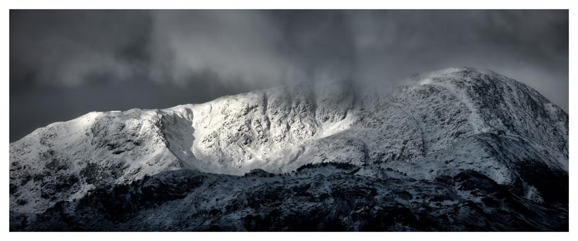 Snow Covered Wetherlam - Lake District Print