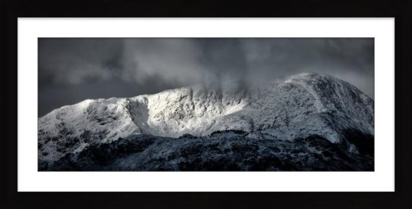 Snow Covered Wetherlam - Framed Print with Mount