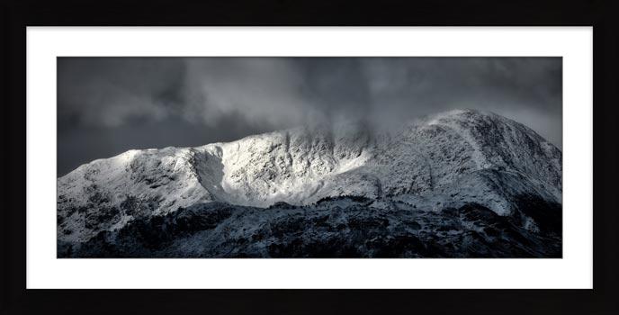 Snow Covered Wetherlam - Framed Print
