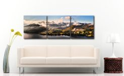Ullswater Clouds Panorama - 3 Panel Canvas on Wall