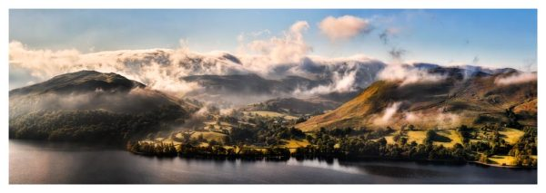Ullswater Clouds Panorama - Prints of Lake District