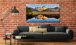 Blea Tarn and Langdale Pikes - Canvas Print on Wall