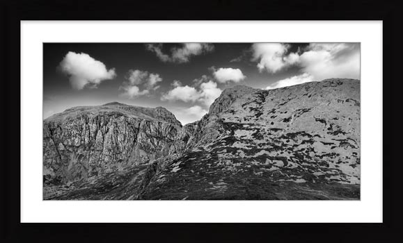 Sca Fell Pikes - Framed Black White