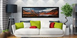 Winter Sun Over Wast Water - Black oak floater frame with acrylic glazing on Wall