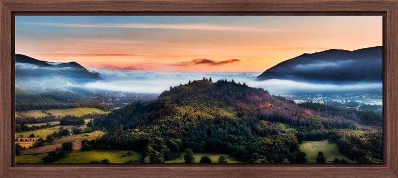 Dawn Mists Over Bassenthwaite Lake - Modern Print