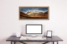 Langdale Pikes Rainbow - Oak floater frame with acrylic glazing on Wall