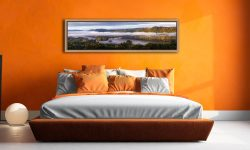 Bowness On Windermere Morning Mists - Oak floater frame with acrylic glazing on Wall