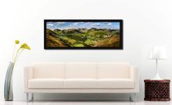 Deepdale and Dovedale Panorama - Black oak floater frame with acrylic glazing on Wall