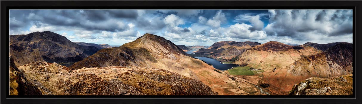 High Crag and Buttermere Panorama - Modern Print