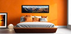 Borrowdale Mountains Panorama - Black oak floater frame with acrylic glazing on Wall
