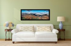 Glenridding Panorama - Black oak floater frame with acrylic glazing on Wall