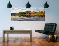 Derwent Isle and Cat Bells - Print Aluminium Backing With Acrylic Glazing on Wall