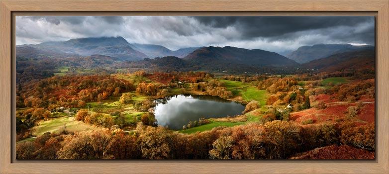 Loughrigg Tarn in Autumn Sunshine - Modern Print