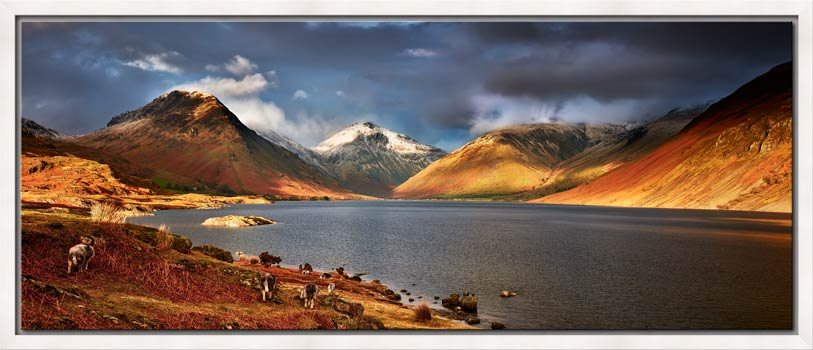 Warm Sunlight on Wasdale Head - Modern Print