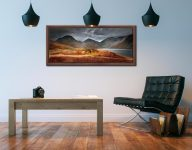 Darkness and Light at Wast Water - Walnut floater frame with acrylic glazing on Wall