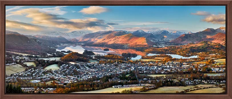 Keswick in the Morning Sunshine - Modern Print