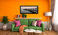 Coniston Jetty - Black oak floater frame with acrylic glazing on Wall
