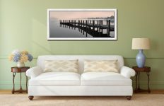 Coniston Jetty - White Maple floater frame with acrylic glazing on Wall