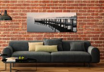 Coniston Jetty - Print Aluminium Backing With Acrylic Glazing on Wall