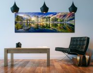 Buttermere Tranquility - Print Aluminium Backing With Acrylic Glazing on Wall