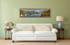 Grasmere Summer Panorama - Oak floater frame with acrylic glazing on Wall