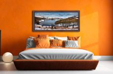 Grasmere Winter Panorama - Walnut floater frame with acrylic glazing on Wall