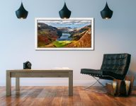 Buttermere From Fleetwith Pike - White Maple floater frame with acrylic glazing on Wall