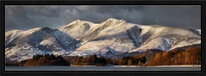 Skiddaw Winter Panorama - Modern Print