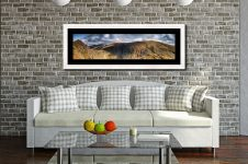 Dow Crag and Old Man Coniston - Framed Print with Mount on Wall