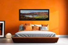 Grasmere Village and Lake - Black oak floater frame with acrylic glazing on Wall