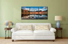 Spring Sunshine on Blea Tarn - 3 Panel Canvas on Wall