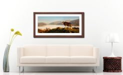 Ram at Gramere - Framed Print with Mount on Wall