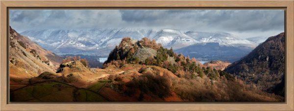 Castle Crag and Snowy Skiddaw - Modern Print