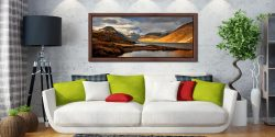 Glorious Wast Water - Walnut floater frame with acrylic glazing on Wall