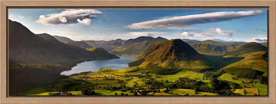 Morning Sunshine on Crummock Water - Modern Print