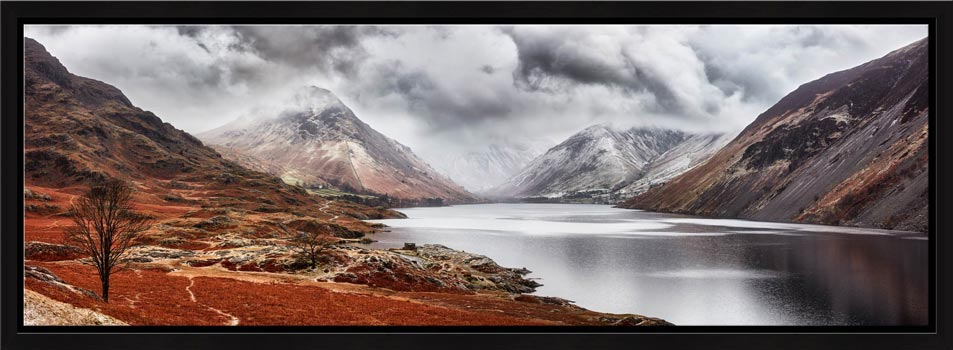 Dark Skies Over Wast Water - Modern Print