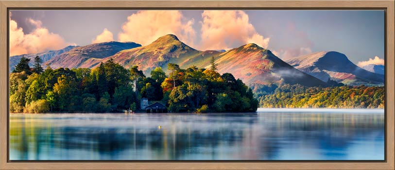 Morning Mists Around Derwent Isle - Modern Print