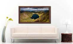 Red Tarn - Walnut floater frame with acrylic glazing on Wall