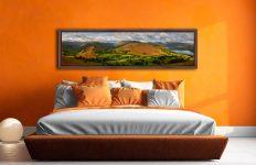Hallin Fell Panorama - Walnut floater frame with acrylic glazing on Wall