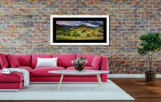 The Martindale Valleys - Framed Print with Mount on Wall
