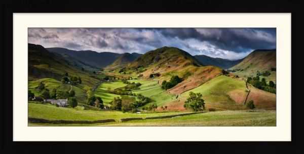The Martindale Valleys - Framed Print with Mount