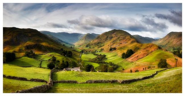 Green Fields of Martindale - Lake District Print