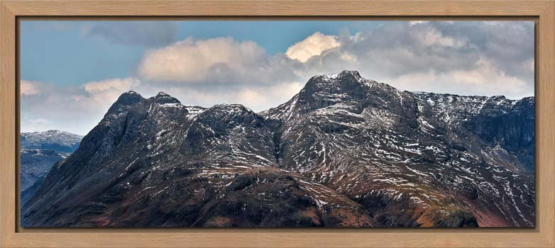 Late Snow on Langdale Pikes - Modern Print