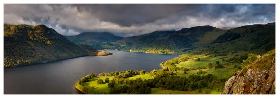 Ullswater Mountains Panorama - Lake District Print
