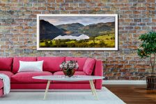 Ullswater Morning Reflections - White Maple floater frame with acrylic glazing on Wall