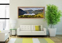 Ullswater Morning Reflections - Oak floater frame with acrylic glazing on Wall