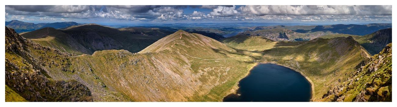 Swirral Edge to Striding Edge - Lake District Print