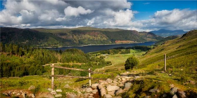Thirlmere From Path to Helvellyn - Canvas Print