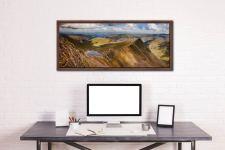 Striding Edge Panorama - Walnut floater frame with acrylic glazing on Wall